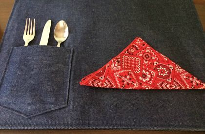 Denim Placemats with Bandana Napkins