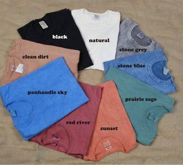 Texas Sun Washed Cotton T-Shirts