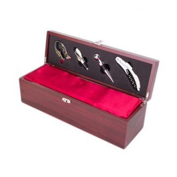Rosewood Single Wine Box With Tools