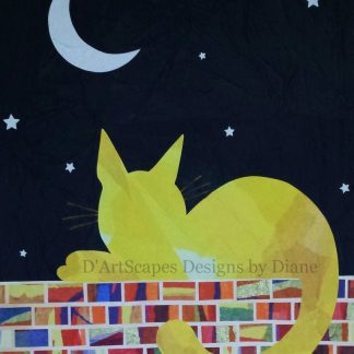Starry Sky Tissue Paper Collage