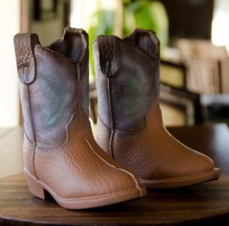 Large Western Chocolate Boot