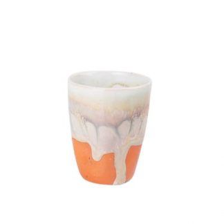 Pale Drippy Ceramic Shot Glass