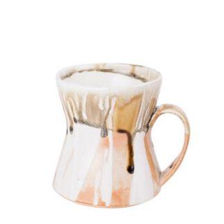 Rustic Drippy Ceramic Coffee Mug
