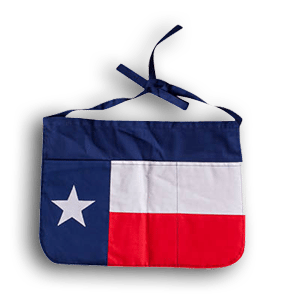 Texas Flag Half Apron
