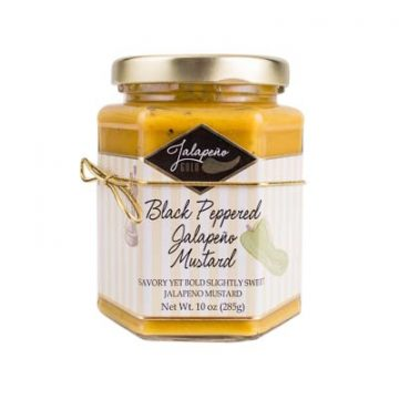 Black Peppered Jalapeno Mustard