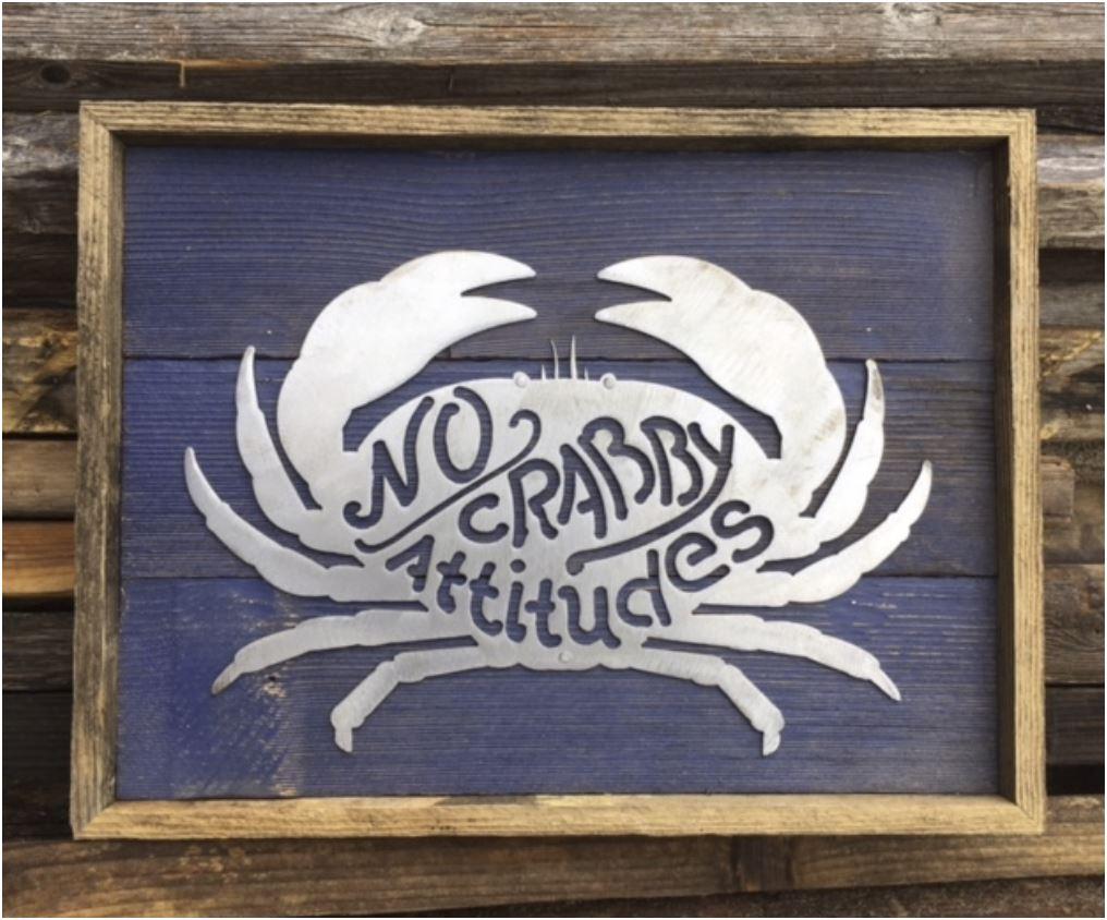 Crab Rustic Metal Wall Art