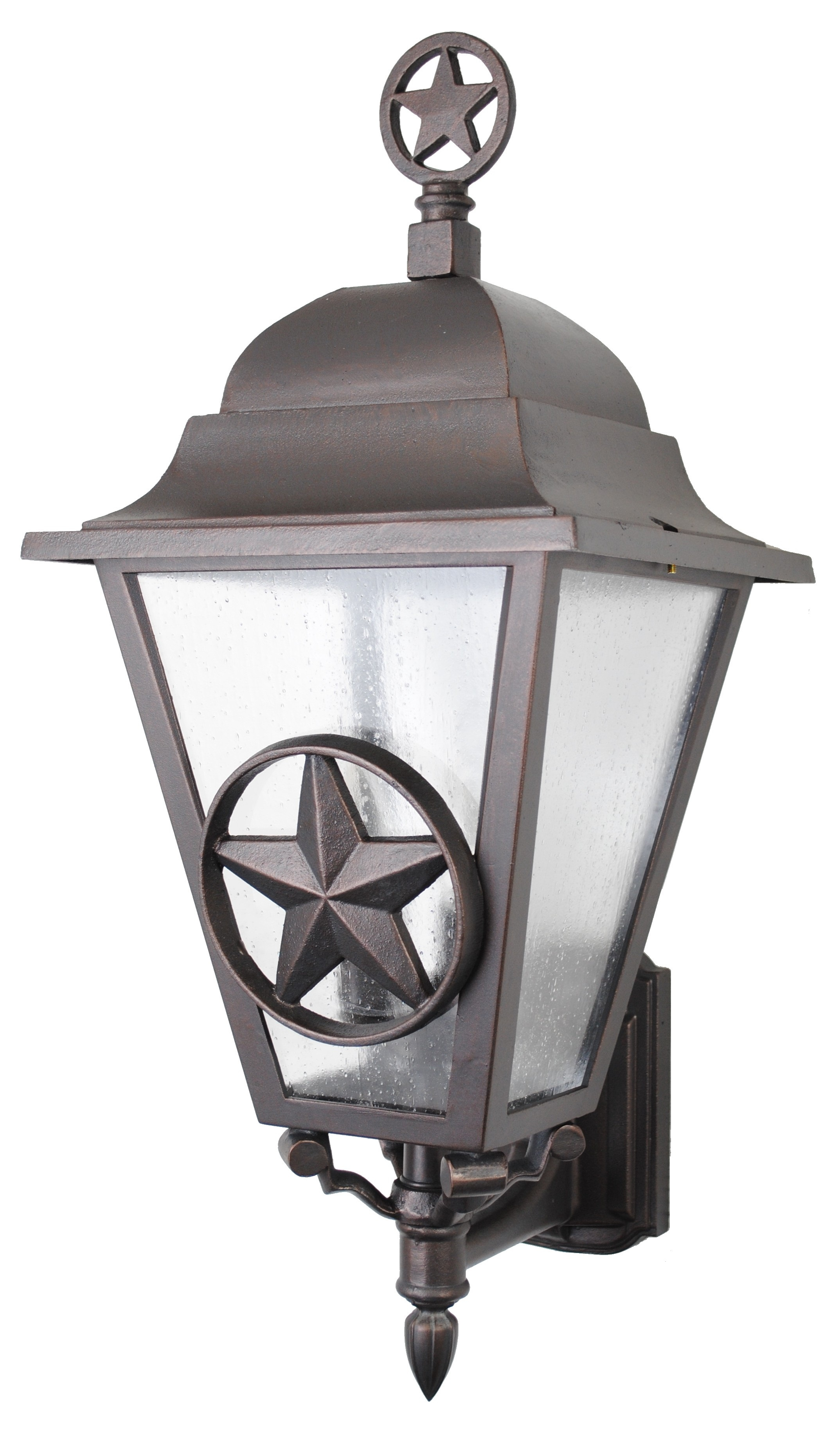 Custom Made Lone Star Wall Mounted Light With Finial